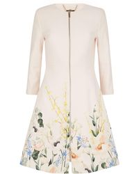 Ted Baker - Luluuu Textured Coat - Lyst