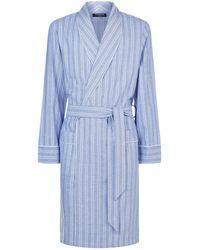 Harrods | Woven Herringbone Stripe Robe | Lyst