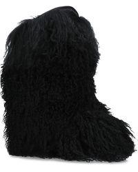 Saint Laurent - Furry Boots - Lyst