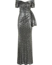 Badgley Mischka - Sequin Gown - Lyst