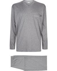Zimmerli | Long Sleeve Cotton Pyjama Set, Navy, Xxl | Lyst