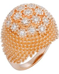 Cartier - Pink Gold And Diamond Cactus De Bulb Ring - Lyst