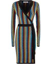 Striped knit wrap dress Diane Von Fürstenberg Outlet Wholesale Price Really Cheap Online Cheap Price Discount Authentic Outlet Cheap Prices 9xPnQJzP