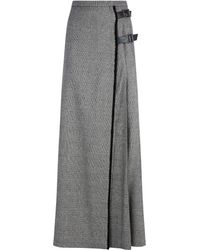Sportmax - Check Buckled Side Skirt - Lyst