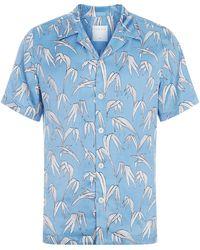Sandro - Palm Print Short-sleeve Shirt - Lyst