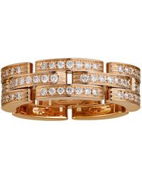 Cartier - White Gold Maillon Panthre Diamond Ring - Lyst