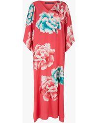 Natori - Ikebana Silk Kimono Kaftan - Lyst