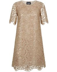 Boutique Moschino - Metallic Lace Shift Dress - Lyst