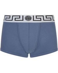 Versace - Iconic Greca Low Rise Trunks - Lyst