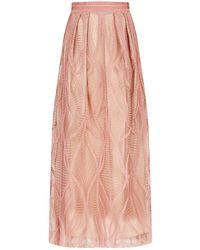Amanda Wakeley - Embroidered Maxi Skirt - Lyst