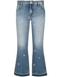 Alanui - Embroidered Flare Jeans - Lyst