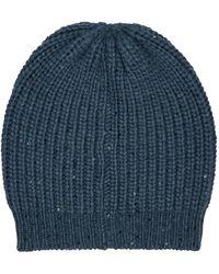 Brunello Cucinelli Knitted Beanie Hat - Blue