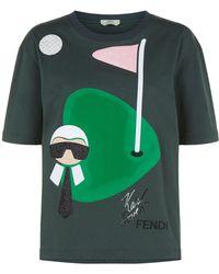 Fendi - Karlito Golf T-shirt - Lyst
