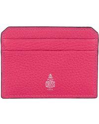 Mark Cross - Grained Leather Card Holder - Lyst