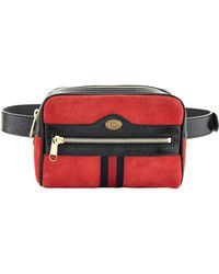 4fea8c9e96fa Lyst - Gucci Ophidia Small Suede Belt Bag in Brown