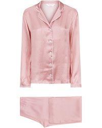 Derek Rose - Brindisi Silk Pyjama Set - Lyst
