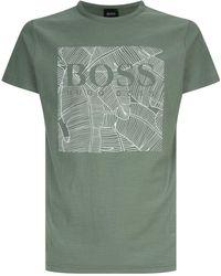 BOSS Orange - Palm Logo Printed T-shirt - Lyst