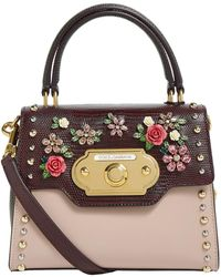 Lyst - Dolce   Gabbana Burgundy Iguana Small Monica Bag in Purple 3c5dd35a47179