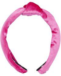 Lele Sadoughi - Velvet Knot Headband - Lyst