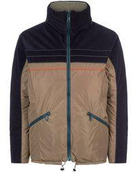 Kolor - Cord Contrast Puffer Jacket - Lyst