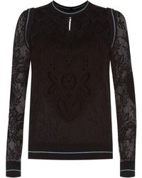 Elie Saab - Lace Sweater - Lyst