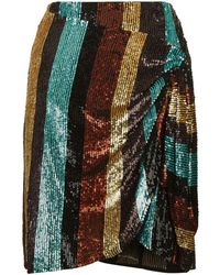 Caroline Constas - Sequin Mini Skirt - Lyst