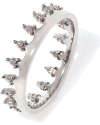 Annoushka - White Gold Crown Ring - Lyst