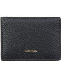 Tom Ford - Leather Foldover Card Holder - Lyst