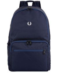 Fred Perry - Twill Checked Backpack - Lyst