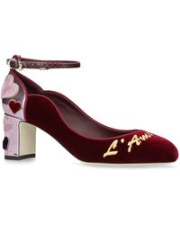 Dolce & Gabbana - Vally Mary Jane Court Shoes 60 - Lyst