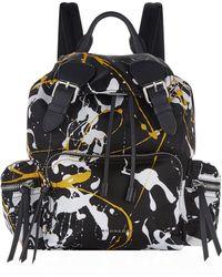Burberry - Medium Splash Buckled Rucksack - Lyst