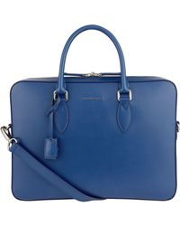Burberry - Slim Leather Briefcase - Lyst