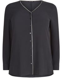 Eileen Fisher - Piped Detail Shirt - Lyst