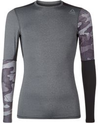 Reebok - Graphic Compression Long Sleeved T-shirt - Lyst