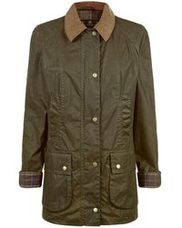 Barbour | Waxed Beadnell Collared Coat | Lyst
