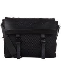 Balmain - Embossed Messenger Bag - Lyst