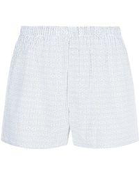 Sunspel - Geometric Dash Print Boxer Shorts - Lyst