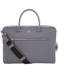 MCM - Grained Leather Briefcase - Lyst