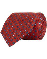 Turnbull & Asser - Mosiac Floral Silk Tie - Lyst