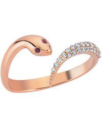 Bee Goddess - Serpent White Diamond Ring - Lyst