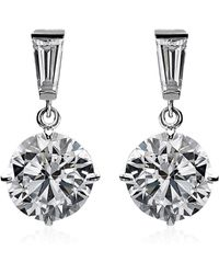 Carat* - 2ct Brilliant Round Drop Earrings - Lyst