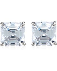 Carat* - Asscher Stud Earrings - Lyst