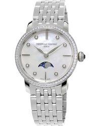 Frederique Constant - Slimline Moonphase Quartz Watch - Lyst