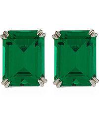 Carat* - Emerald Cut Stud Earrings - Lyst