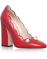 Gucci - Willow Pearl Embellished Court Shoes 100 - Lyst