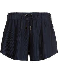 adidas Originals - Pleated 3-stripe Shorts - Lyst