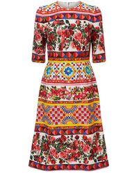 Dolce & Gabbana - Mambo Print Midi Dress - Lyst