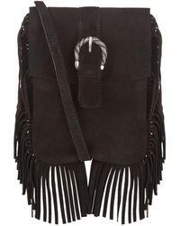 Maje - Suede Fringe Shoulder Bag - Lyst