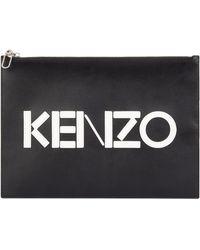 KENZO - A4 Logo Pouch - Lyst
