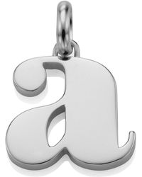 Monica Vinader - Sterling Silver Lower Case A Pendant - Lyst